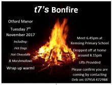 T7 Bonfire Night Flyer