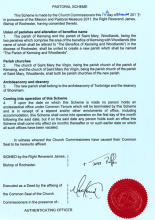 The signed and sealed pastoral scheme