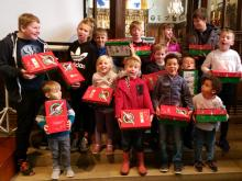 Some of our children with their shoeboxes