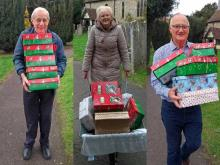Loading our 2018 shoeboxes