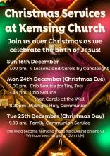 Kemsing Christmas Services 2018