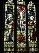 The original east window, moved to the south wall by Sir Ninian Comper