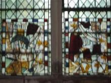 The window in the north aisle, re-assembled from broken pieces of a previous window