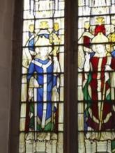 Two-light window depicting Thomas and Richard, given in memory of Rev Skarratt
